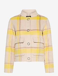 SLFTERRY HANDMADE CHECK JACKET - wool jackets - sandshell