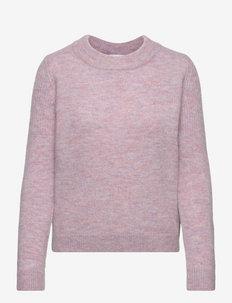 SLFSIA LS KNIT O-NECK B - tröjor - chalk pink