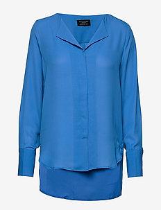 SLFSTINA-DYNELLA LS SHIRT B - long sleeved blouses - campanula