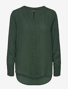 SLFSTINA-DYNELLA LS SHIRT B - long sleeved blouses - scarab