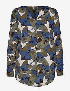 SLFSTINA-DYNELLA LS AOP SHIRT B - long sleeved blouses - primrose pink