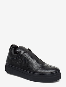 SLFANNA LEATHER SLIPON B - BLACK