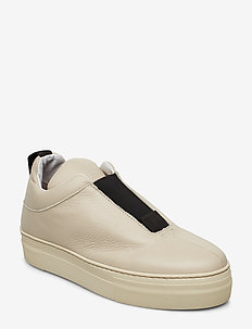 SLFANNA LEATHER SLIPON B - SANDSHELL