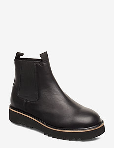 SLFNEW MIRA LEATHER CHELSEA BOOT B - BLACK