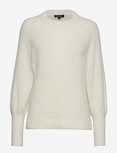 SLFKYLIE LS KNIT O-NECK B - SNOW WHITE