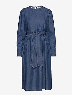 SLFALINA LS DRESS W - jeansklänningar - dark blue
