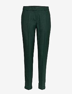 SLFLUNA MW ANKLE PANT CHECK B - bukser med lige ben - black
