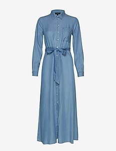 SLFMARLA-FLORENTA  LS SHIRT DRESS EX - shirt dresses - light blue