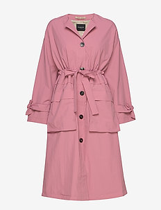 SLFBIONA LS KNOT TRENCHCOAT B - trenchcoats - heather rose