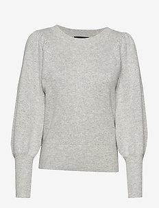 SLFTINE LS KNIT O-NECK B - trøjer - light grey melange