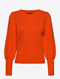SLFTINE LS KNIT O-NECK B - trøjer - orange.com