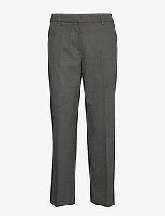 SLFEMILO MW CROPPED PANT B - bukser med lige ben - medium grey melange