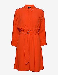 SLFEMERY-VIENNA 7/8 SHORT DRESS B - shirt dresses - orange.com