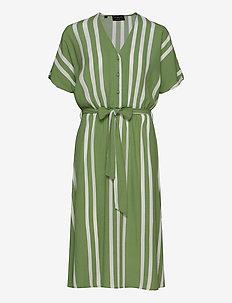 SLFVIENNA SS AOP SHORT DRESS B - midi kjoler - watercress
