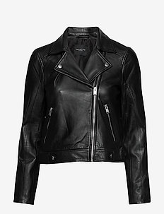 SLFKATIE LEATHER JACKET B NOOS - skinnjackor - black