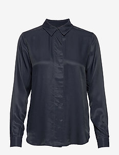 SLFARABELLA-ODETTE LS SHIRT NOOS - long sleeved blouses - dark sapphire