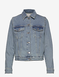 SLFSTORY BAIR BLUE DENIM JACKET W - LIGHT BLUE DENIM