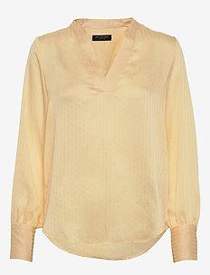 SLFELIANA LS TOP B - long sleeved blouses - almond oil