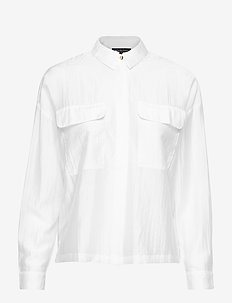 SLFLIVA LS SHIRT EX - long-sleeved shirts - bright white