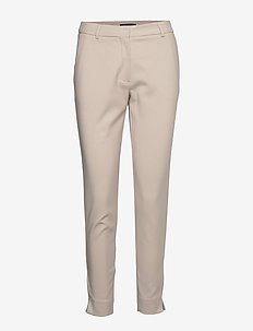SLFMUSE FIE CROPPED MW PANT- DOVE B - slim fit-byxor - dove