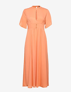 SLFSTALL SS ANKLE DRESS EX - sukienki do kolan i midi - peach bloom