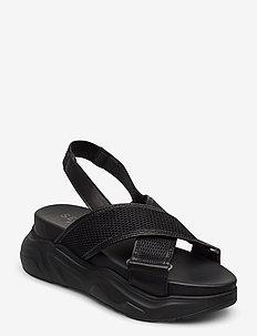 SLFOLLIE SANDAL B - platta sandaler - black