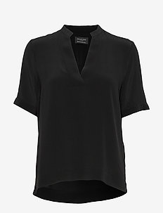 SLFELLA SS TOP B NOOS - short-sleeved blouses - black