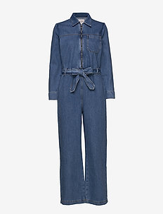 SLFDANA MID BLUE DENIM JUMPSUIT EX - MEDIUM BLUE DENIM