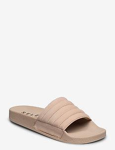 SLFSTEPH NEW NUBUCK SLIDER B - sandales de bain - sand