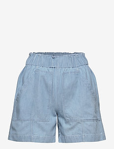 SLFNOVO MW SHORTS W - jeansowe szorty - light blue