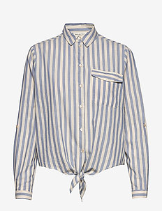 SLFZENIA LS SHIRT W - long-sleeved shirts - country blue
