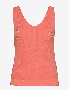 SLFSINNA SL KNIT TOP B - burnt coral