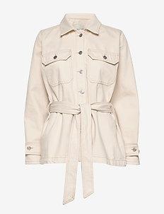 SLFMAY JADE WHITE DENIM JACKET W - vestes en jean - white denim