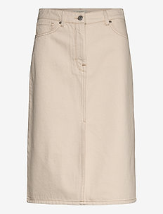 SLFMAY MW JADE WHITE DENIM SKIRT W - jupes en jeans - white denim