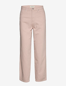 SLFELLI HW LIGHT PINK VOLUME JEANS W - wide leg trousers - potpourri