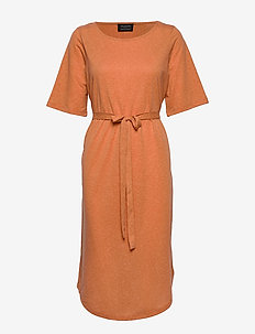 SLFIVY 2/4 BEACH DRESS B - rantavaatteet - caramel