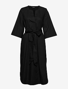 SLFCARLOTTA 3/4 MIDI KAFTAN DRESS B - midi dresses - black