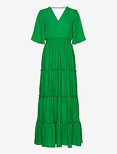 SLFRAYA 2/4 MAXI DRESS B - maxi dresses - bright green
