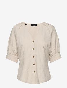 SLFMALVINA 2/4 SHIRT B - blouses à manches courtes - sandshell