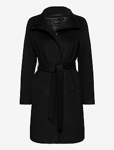 SLFMELANIE WOOL COAT B - manteaux en laine - black