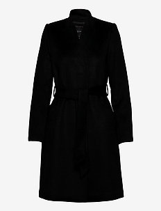 SLFMELLA WOOL COAT B NOOS - ullkåper - black