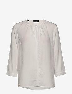SLFEVA 3/4 TOP B - long sleeved blouses - snow white