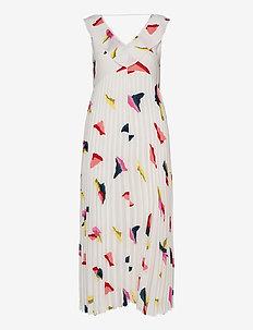 SLFISABELLA SL AOP LONG DRESS EX - midiklänningar - bright white