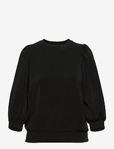 SLFTENNY 3/4 SWEAT B - sweatshirts - black