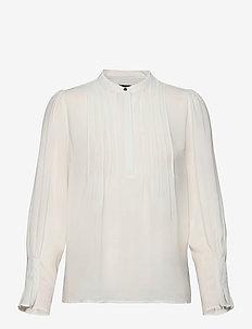 SLFLIVIA LS TOP NOOS - blouses med lange mouwen - snow white
