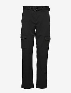 SLFWILMA HW PANT EX - bukser med lige ben - black