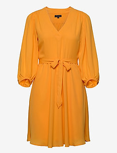 SLFZIX 3/4 SHORT DRESS B - short dresses - radiant yellow