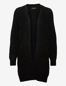 SLFLULU LS KNIT LONG CARDIGAN  B - cardigans - black