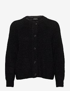 SLFLULU LS KNIT SHORT CARDIGAN - cardigans - black