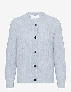 SLFLULU LS KNIT SHORT CARDIGAN B NOOS - gilets - cashmere blue